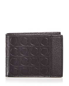 Salvatore Ferragamo - Embossed Leather Bi-Fold Wallet